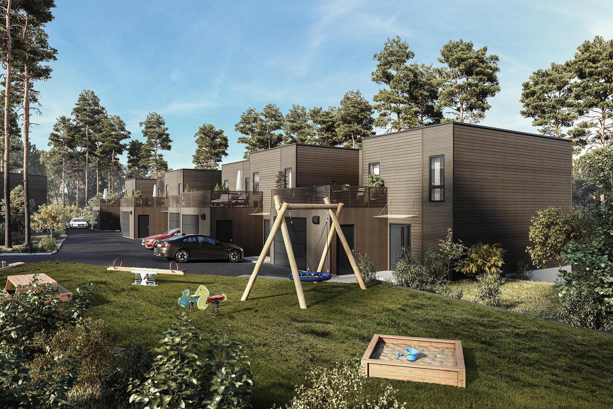 Fasadebilde av prosjektet